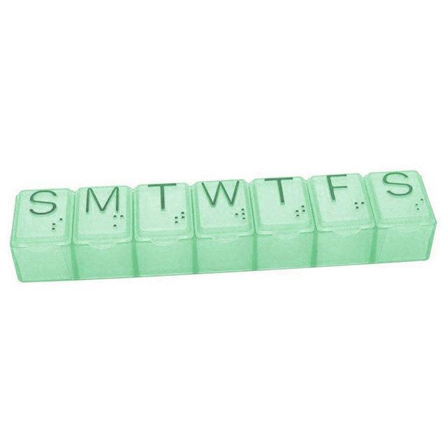 Органайзер для таблеток зеленый на 7 дней