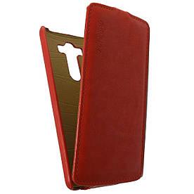 Чехол книжка для LG G3 D855 вертикальный флип, Prestigious Красный