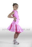 Платье для бальных танцев 32, кораловый