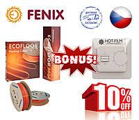 Теплый пол электрический под плитку Fenix 100,4м пог(9,4-13,2м²)1700Вт Греющий нагревательный кабель
