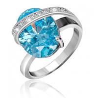 """Серебряное кольцо с имитацией топаза """"385"""", фото 1"""