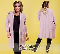 Пальто плотной вязки