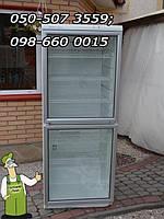 Холодильная торговая витрина белая высотой - 170см, шириной - 60см, двудверная бу из Германии