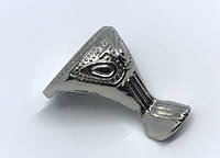 Ножка под сундучок декоративная серебро
