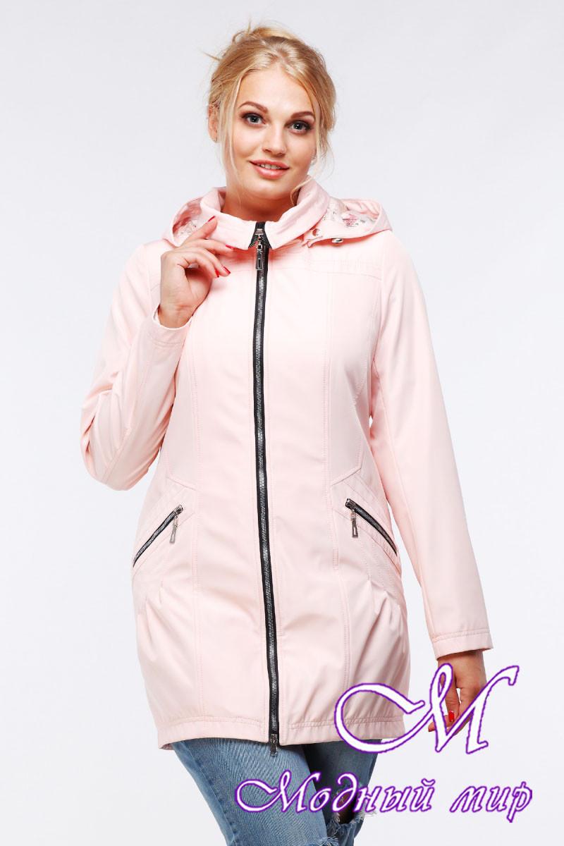 Женская демисезонная куртка-плащ больших размеров (р. 48-64) арт. Нольди