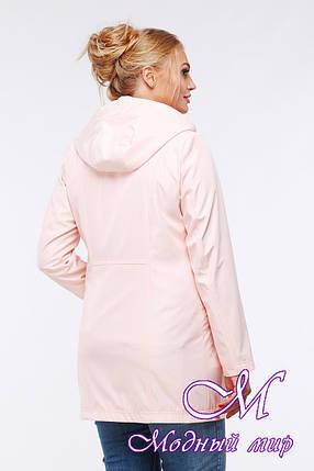 Женская демисезонная куртка-плащ больших размеров (р. 48-64) арт. Нольди, фото 2