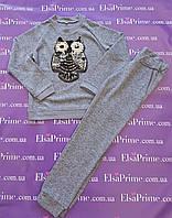 Модный прогулочный костюм для девочки Эрика р.134-146.тёмно-серый