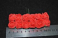 Роза из фома.12 шт. Красная.