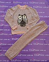 Модный прогулочный костюм для девочки Эрика р.134-146. персиковый