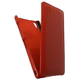 Чехол книжка для Sony Xperia Z3 D6603 вертикальный флип, Prestigious Красный
