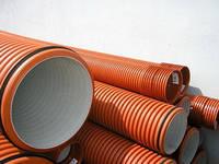 Труба двухслойная гофрированная канализационная 200 мм