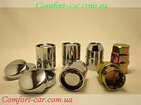 Гайки колес секретки с кольцом М12х1,5 Chevrolet,Honda,Toyota,Ford