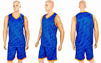 Форма баскетбольная мужская Camo LD-8003-4 (PL, р-р L-5XL, синий)