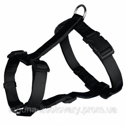 Шлейка S - M  для собак 40 - 65см/15мм, стандарт, черный
