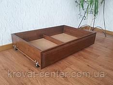 Дерев'яний подкроватних ящик на гумових коліщатках від виробника