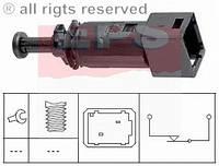 Включатель заднего стоп-сигнала (чёрный) на Renault Trafic  2001-> - EPS (Италия) - 1.810.148