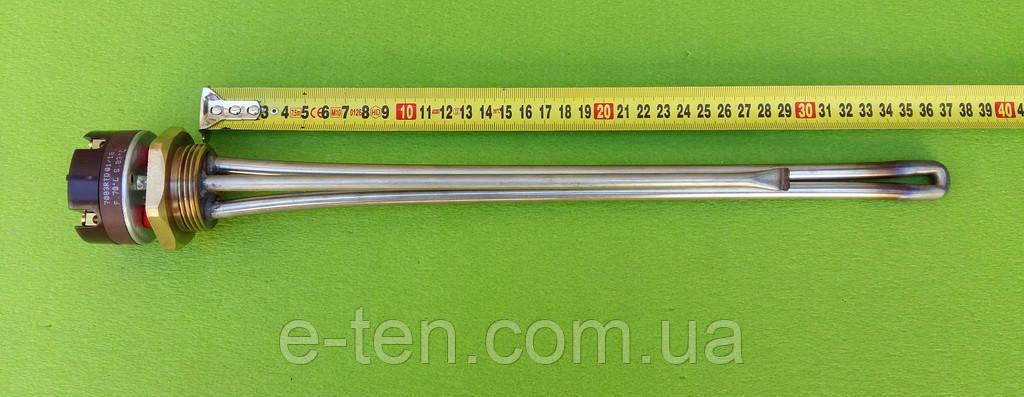 Тэн нержавейка для чугунной батареи 2000W резьба 1 1/4 (Украина) с итальянским термостатомReco(с термозащитой)