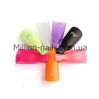 Набор пластиковых зажимов(клипс)  для снятия гель-лака, цветные 10шт/уп.