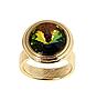 """Кольцо """"Эмбаси"""" с кристаллами Swarovski, покрытое золотом (j171p030), фото 2"""