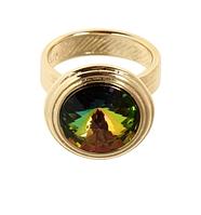 """Кольцо """"Эмбаси"""" с кристаллами Swarovski, покрытое золотом (j171p030)"""
