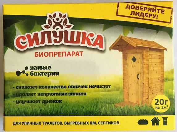 """Биопрепарат для туалетов и выгребных ям """"Силушка"""" (20 гр)-для уличных туалетов, выгребных ям, септиков, фото 2"""