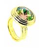 """Кольцо """"Эмбаси"""" с кристаллами Swarovski, покрытое золотом (j171p020), фото 2"""