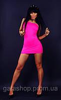 Сексуальная одежда, клубное мини платье туника, малина. Размеры 42 - 50. Оптом и в розницу.