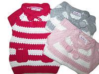 Безрукавка вязаная для девочек, размеры  12,18 мес, Nice Wear, арт. GF 818