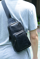 Мужская кожаная сумка. Модель 61330, фото 2
