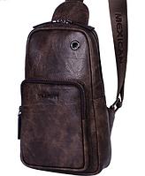 Мужская кожаная сумка. Модель 61330, фото 8