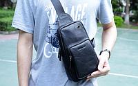 Мужская кожаная сумка. Модель 61330, фото 3