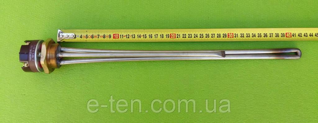 Тен нержавійка для чавунної батареї 2500W різьба 1 1/4 (Україна) з італійським термостатомReco(з термозахистом)