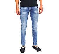 Голубые мужские джинсы зауженные PHILIPP PLEIN