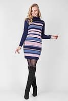 Женское платье туника в полоску