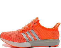 Женские кроссовки Adidas Gazelle Boost Orange/Silver/White