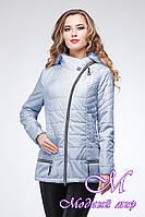 Женская светло-голубая осенняя куртка (р. 44-52) арт. Айсель