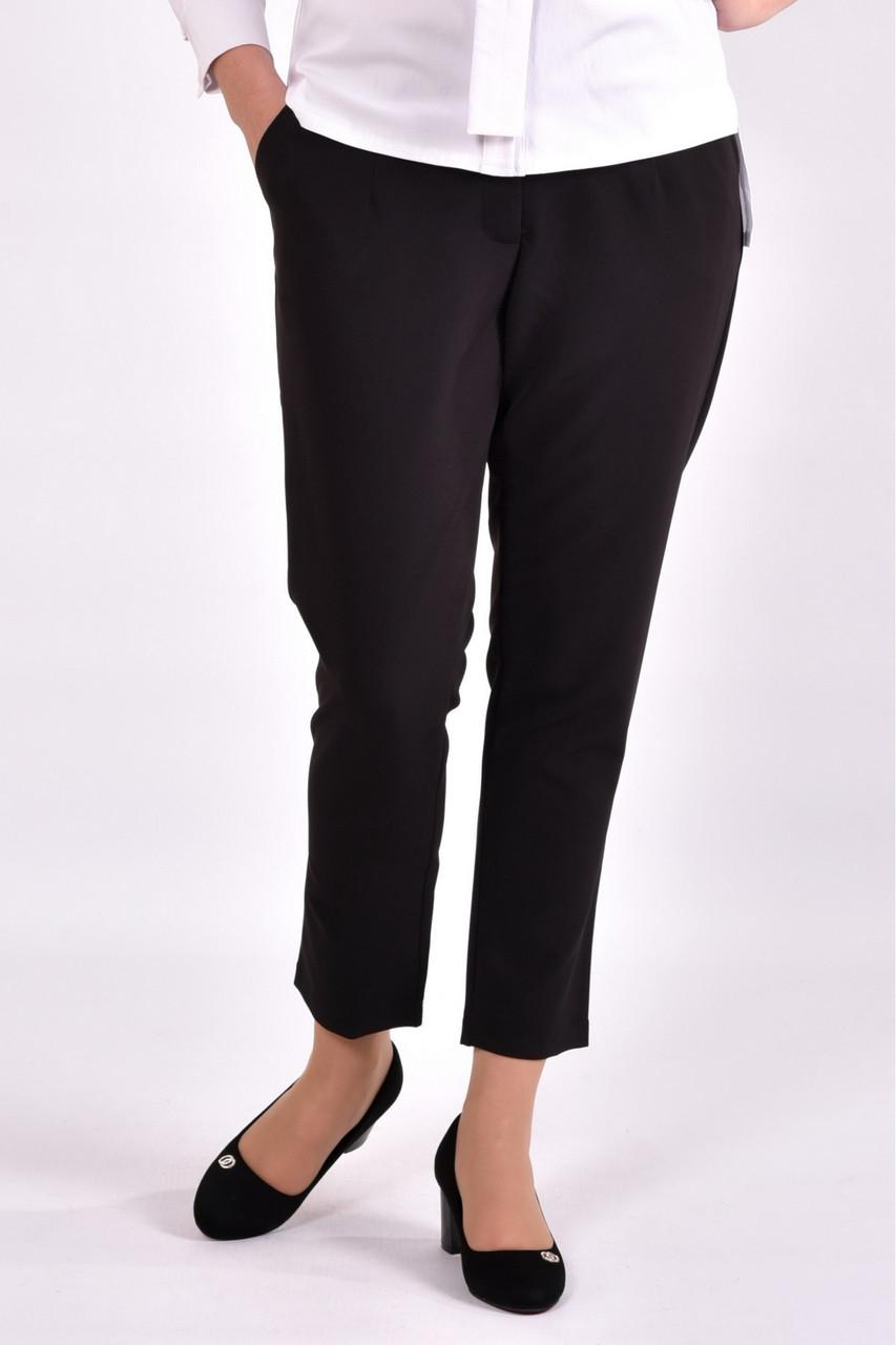Женские укороченные брюки B031-3 цвет черный размер 42-74