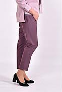 Женские укороченные брюки B031-3 цвет бисквит размер 42-74, фото 3