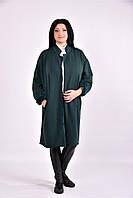 Женский модный демисезонный кардиган на меху 0603 размер 42-74