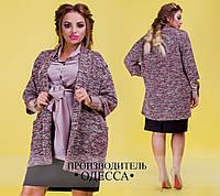 Шёлковая блуза с вшитым поясом