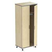 Шкаф М11 АртМобил (820х425х2060мм) клен/ кромка серый металлик (AMF-ТМ)