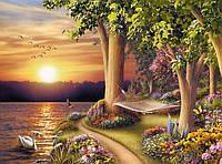 Алмазная мозаика Райский отдых на берегу 40 х 50 см (арт. FS611), фото 1