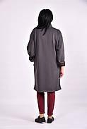 Женский модный демисезонный кардиган на меху 0603 цвет серый размер 42-74, фото 2