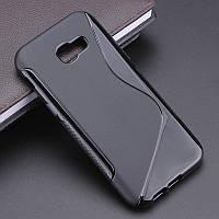 Чехол Samsung A720 / A7 2017 силикон TPU S-LINE черный