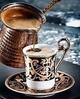Алмазная вышивка 5D Вечер за чашечкой кофе 40 х 50 см (арт. FS613)