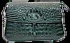 Эксклюзивная женская сумка из натуральной кожи зеленого цвета RYL-021607
