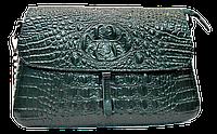 Эксклюзивная женская сумка из натуральной кожи зеленого цвета RYL-021607, фото 1
