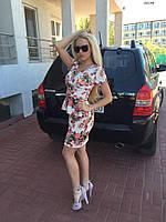 Женский костюм летний с баской 155 (24)