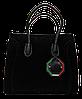 Превосходная женская сумочка CELINE из натуральной замши черного цвета LPU-044369