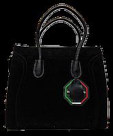 Превосходная женская сумочка CELINE из натуральной замши черного цвета LPU-044369, фото 1